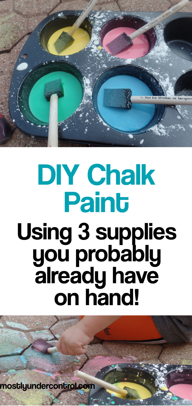DIY Chalk paint - using 3 supplies you probably already have on hand
