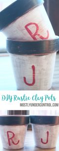 DIY Rustic Clay pots