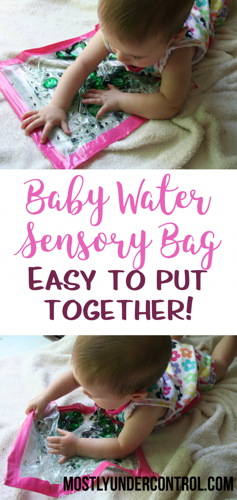 Baby sensory water bag - so easy to put together!