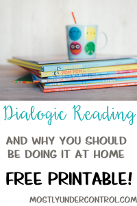 Dialogic reading is the process of reading to your kids but adding in extra info or asking questions while reading to get their minds to think a little more. It is a great thing to add to your daily story time routine to exercise those little minds. #dialogicreading #readingtogether #readingwithyourkids #readingwithbabies #whyshouldwereadtogether #reading #circletime #storytime