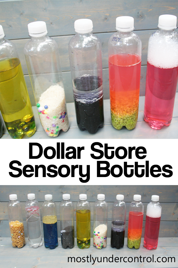 Sensory Bottles From The Dollar Store Mostly Under Control