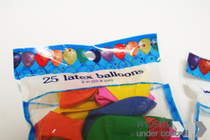 latex balloons used for sensory balloons