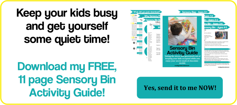 Keep your kids busy and get some quiet time for yourself! Download my sensory play activity guide now!
