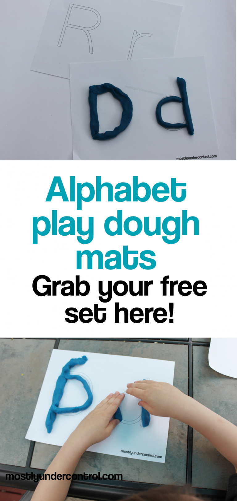 alphabet play dough mats - grab your free set here!