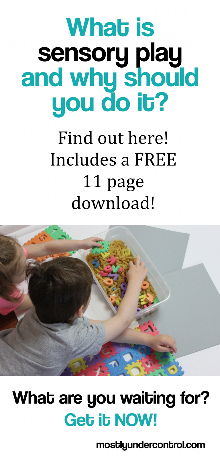 want more information on sensory play? Check it out here with a free sensory bin activity guide!