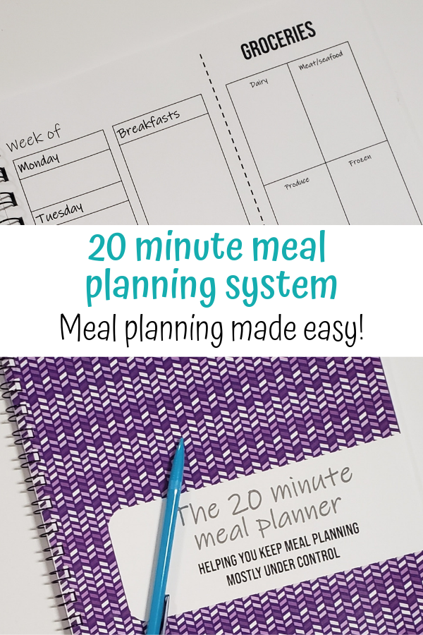 20 minute easy meal planning system