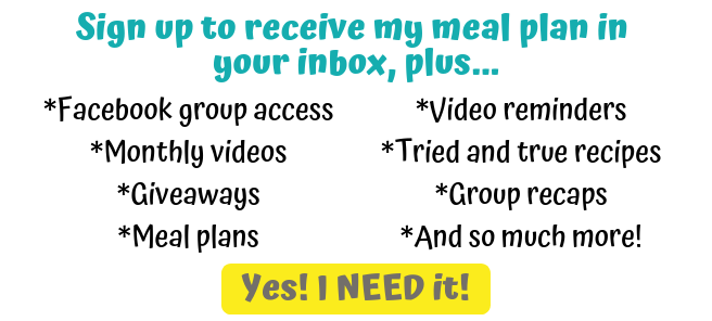 Facebook group access to a meal planning group!