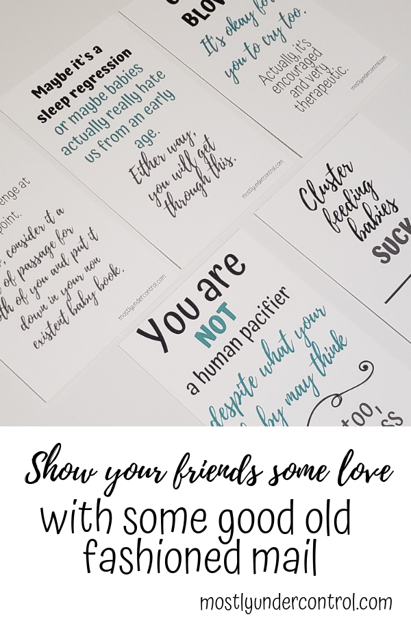 Show your friends some love with these mom encouragement cards!