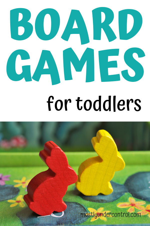 Board games for toddlers! A list of great board games for toddlers.