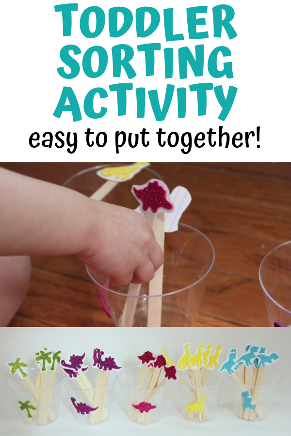 Toddler sorting activity - super easy to put together and works on so many math skills!