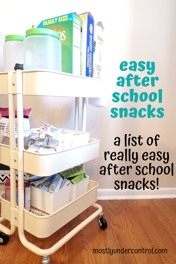 Easy after school snacks - a list of really easy after school snacks to have ready to go!