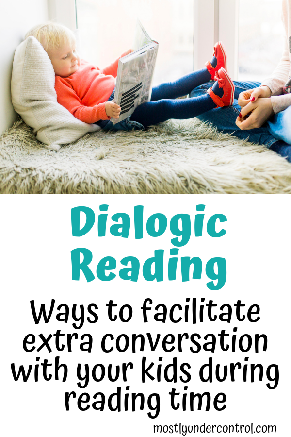 Dialogic reading is the process of expanding on your kids' thoughts and ideas while reading a simple book at storytime.