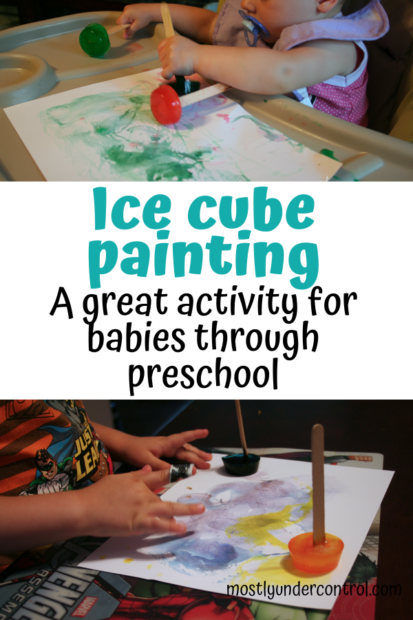 Ice cube painting. A great activity for babies through preschool!