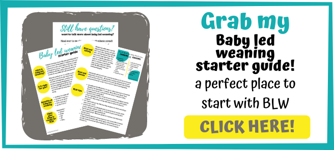Grab my baby led weaning starter guide! Lots of baby led weaning tips and a great place to start.