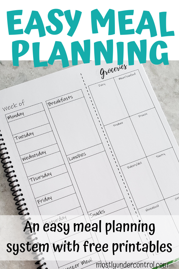 easy meal planning - an easy meal planning system with free printables
