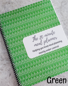 green chevron meal planner notebook