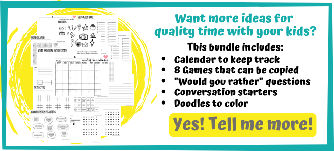 Looking for ideas for quality time with your kids? This bundle includes games and activities to do with your kids!